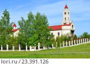 Купить «BARANOVICHI, BELARUS - May 14, 2015: Female Catholic monastery in Baranovichi. Church of Our Lady of Fatima.», фото № 23391126, снято 14 мая 2015 г. (c) Анна Мартынова / Фотобанк Лори
