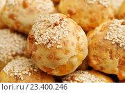 Купить «Пау-ди-Кейжу, бразильские сырные булочки», эксклюзивное фото № 23400246, снято 12 июля 2016 г. (c) Dmitry29 / Фотобанк Лори