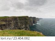 Купить «cliffs of moher and atlantic ocean in ireland», фото № 23404082, снято 23 июня 2016 г. (c) Syda Productions / Фотобанк Лори
