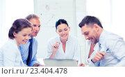 Купить «business team having meeting in office», фото № 23404478, снято 9 июня 2013 г. (c) Syda Productions / Фотобанк Лори