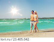 Купить «couple walking on the beach», фото № 23405042, снято 4 августа 2012 г. (c) Syda Productions / Фотобанк Лори