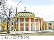 Купить «Разрушающийся заброшенный Речной вокзал в городе Твери», фото № 23415546, снято 2 апреля 2014 г. (c) Parmenov Pavel / Фотобанк Лори