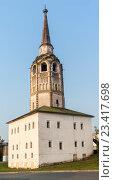 Наклоненная соборная колокольня 1713 год, Пермский край г. Соликамск, фото № 23417698, снято 19 июля 2016 г. (c) Александр  Буторин / Фотобанк Лори