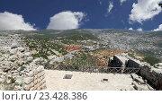 Айюбидов замок Аджлун на севере Иордании, построенный в 12-м веке, Ближний Восток (2016 год). Стоковое видео, видеограф Владимир Журавлев / Фотобанк Лори