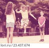 Купить «children with chinese jumping rope», фото № 23437674, снято 16 июня 2019 г. (c) Яков Филимонов / Фотобанк Лори