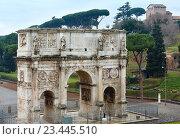 Купить «Triumphal Arch of Constantine in Rome.», фото № 23445510, снято 8 января 2015 г. (c) Юрий Брыкайло / Фотобанк Лори