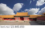 Купить «Запретный город, Пекин, Китай», видеоролик № 23445650, снято 29 августа 2016 г. (c) Владимир Журавлев / Фотобанк Лори