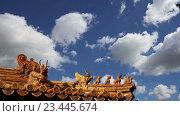 Декор крыши в Юнхэгун (Юнхэгун) в Пекине, Китай (2016 год). Стоковое видео, видеограф Владимир Журавлев / Фотобанк Лори