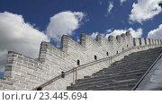Купить «Вид одного из самых живописных участков Великой китайской стены, к северу от Пекина», видеоролик № 23445694, снято 29 августа 2016 г. (c) Владимир Журавлев / Фотобанк Лори
