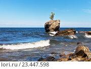 Купить «Байкал. Скала Каменная Черепаха -  туристическая достопримечательность восточного побережья озера», фото № 23447598, снято 26 августа 2016 г. (c) Виктория Катьянова / Фотобанк Лори