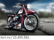 Купить «Мотоцикл. Нимбус. Nimbus. Мотоспорт», фото № 23455582, снято 14 декабря 2018 г. (c) Дмитрий Третьяков / Фотобанк Лори
