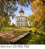 Купить «Церковь-маяк на Секирной горе», фото № 23455782, снято 19 августа 2016 г. (c) Baturina Yuliya / Фотобанк Лори