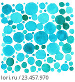 Голубые акварельные точки, фон. Стоковое фото, фотограф Екатерина Кулаева / Фотобанк Лори