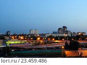 Купить «Ночной вид Кунцево. Кунцево - район в западной части  Москвы, Россия», фото № 23459486, снято 12 августа 2012 г. (c) Зезелина Марина / Фотобанк Лори