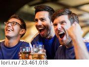 Купить «football fans or friends with beer at sport bar», фото № 23461018, снято 14 июля 2016 г. (c) Syda Productions / Фотобанк Лори