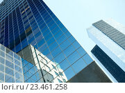 Купить «close up of office building or skyscraper and sky», фото № 23461258, снято 12 мая 2016 г. (c) Syda Productions / Фотобанк Лори