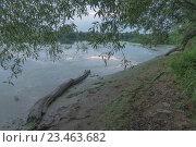 Рассвет на реке. Стоковое фото, фотограф Виктор Евстратов / Фотобанк Лори