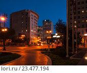 Вечерний Виннипег, Канада (2016 год). Стоковое фото, фотограф Игорь Ворончихин / Фотобанк Лори