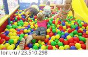 Купить «small children playing together», видеоролик № 23510298, снято 7 сентября 2016 г. (c) Яков Филимонов / Фотобанк Лори