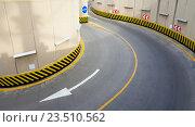 Купить «Въезд в подземную парковку», фото № 23510562, снято 9 июня 2016 г. (c) Андрей Зык / Фотобанк Лори