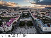 Купить «Магадан, центр города», фото № 23511894, снято 17 сентября 2018 г. (c) Антон Афанасьев / Фотобанк Лори