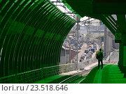 Купить «Пассажирская платформа станции «Деловой центр» Московского центрального кольца (МЦК)», эксклюзивное фото № 23518646, снято 12 сентября 2016 г. (c) lana1501 / Фотобанк Лори