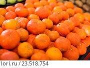 Купить «mandarins on the market», фото № 23518754, снято 16 марта 2018 г. (c) Яков Филимонов / Фотобанк Лори