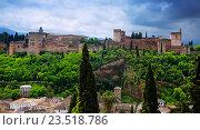 Купить «General view of Alhambra. Granada», фото № 23518786, снято 13 мая 2016 г. (c) Яков Филимонов / Фотобанк Лори