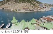 Купить «Балаклава - популярный курорт Крыма», видеоролик № 23519198, снято 3 августа 2016 г. (c) Юлия Машкова / Фотобанк Лори