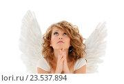 Купить «praying teenage angel girl or young woman», фото № 23537894, снято 1 августа 2009 г. (c) Syda Productions / Фотобанк Лори