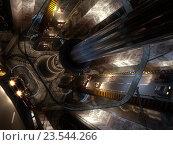 Футуристический гравитационный автомобильный туннель. Стоковая иллюстрация, иллюстратор Михаил Уткин / Фотобанк Лори