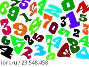 Купить «Цифры разных шрифтов на белом фоне», иллюстрация № 23548458 (c) Сергеев Валерий / Фотобанк Лори