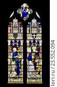 Купить «Canterbury, Kent, UK. St Peter´s Church (Anglican) Stained glass window: Sts Peter and Augustine.», фото № 23552094, снято 8 августа 2016 г. (c) age Fotostock / Фотобанк Лори