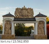 Купить «Елизаветинские ворота.Оренбург», фото № 23562850, снято 6 августа 2016 г. (c) Акиньшин Владимир / Фотобанк Лори
