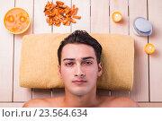 Купить «Handsome man during spa session», фото № 23564634, снято 6 августа 2016 г. (c) Elnur / Фотобанк Лори
