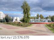 Купить «Мемориальный комплекс погибшим в Афганистане и фонтан. Воинский мемориал на Музейной площади», фото № 23576070, снято 31 августа 2016 г. (c) Parmenov Pavel / Фотобанк Лори