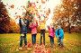 Купить «happy children playing with autumn leaves in park», фото № 23579562, снято 10 октября 2015 г. (c) Syda Productions / Фотобанк Лори