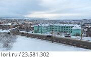 Купить «Мурманск, городской пейзаж, улица Челюскинцев», фото № 23581302, снято 16 февраля 2016 г. (c) Игорь Долгов / Фотобанк Лори