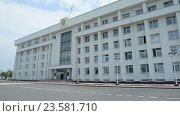 Купить «Здание Правительства Республики Башкортостан в Уфе», видеоролик № 23581710, снято 30 июня 2016 г. (c) Mikhail Erguine / Фотобанк Лори