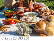 Russian table with food. Стоковое фото, фотограф Jan Jack Russo Media / Фотобанк Лори