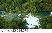 Водопад в Национальном парке Крка. Стоковое видео, видеограф Зименков Юрий / Фотобанк Лори