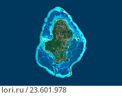 Купить «Satellite view of Wallis Island, part of Wallis and Futuna Islands. This image was compiled from data acquired by Landsat 8 satellite in 2014.», фото № 23601978, снято 22 июля 2019 г. (c) age Fotostock / Фотобанк Лори
