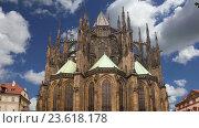 Собор Святого Вита (католический собор) в Пражском Граде, Чешская Республика (2016 год). Стоковое видео, видеограф Владимир Журавлев / Фотобанк Лори