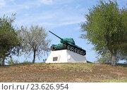 Купить «Танк Т-34-85, памятник, г. Темрюк», фото № 23626954, снято 28 августа 2016 г. (c) Denis Kh. / Фотобанк Лори