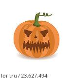 Купить «Тыква для Хэллоуина, изолированная на белом фоне», иллюстрация № 23627494 (c) Анастасия Улитко / Фотобанк Лори