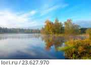 Купить «Солнечный осенний пейзаж», фото № 23627970, снято 25 сентября 2016 г. (c) Валерий Боярский / Фотобанк Лори