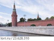 Купить «Вид на Кремль с Москвы-реки», фото № 23628310, снято 6 сентября 2016 г. (c) Александр Перепелицын / Фотобанк Лори