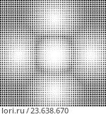 Абстрактный черно-белый узор из точек. Стоковая иллюстрация, иллюстратор Rashpil / Фотобанк Лори