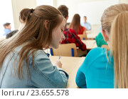 Купить «group of students writing school test», фото № 23655578, снято 22 апреля 2016 г. (c) Syda Productions / Фотобанк Лори