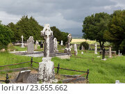 Купить «old celtic cemetery graveyard in ireland», фото № 23655662, снято 24 июня 2016 г. (c) Syda Productions / Фотобанк Лори